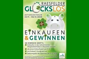 Beim Einkauf ab 10€ bekommt man ein Raesfelder Glückslos im Zeiraum 23.11. bis 6.12.2020