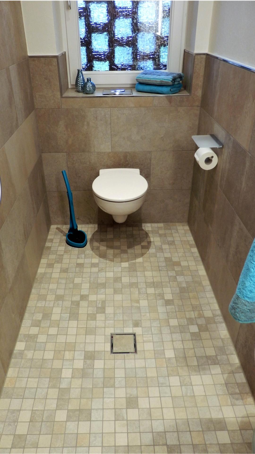 Badezimmer auf kleinstem Raum